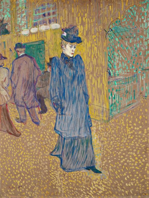 Tourlouse-Lautrec's Jane Avril Leaving the Moulin Rouge