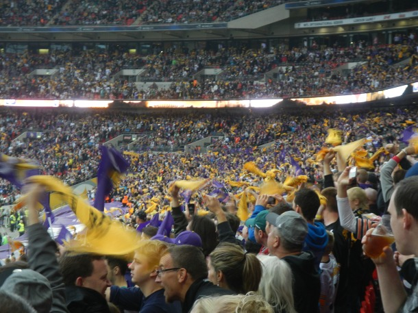 Cheering after a Vikings touchdown!