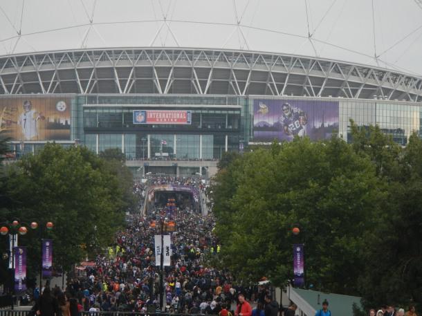 Heading into Wembley Stadium