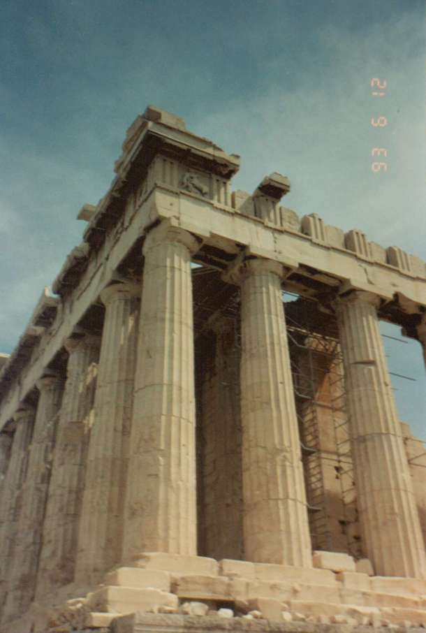 Up close at the Parthenon