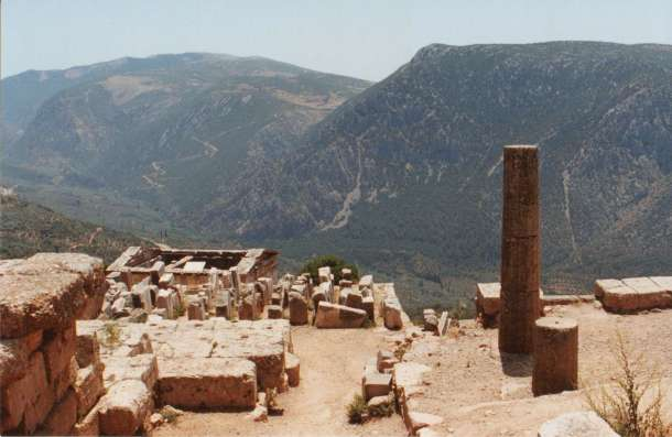 The hills surrounding Delphi