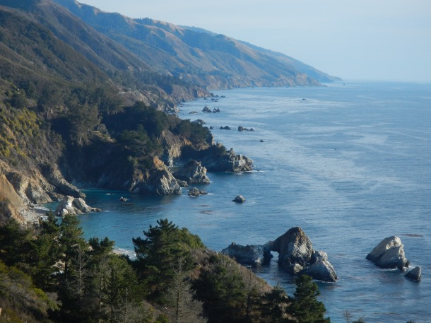 Looking south along the Big Sur coast