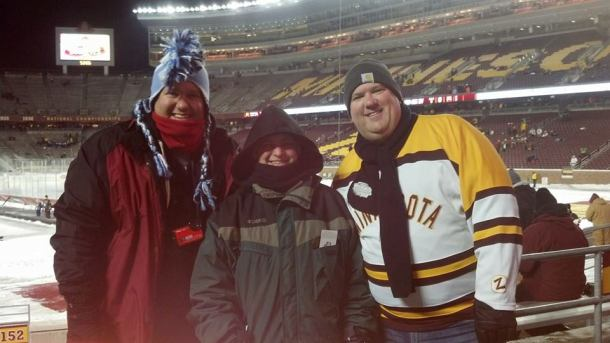 The gang dressed and ready for the Hockey City Classic
