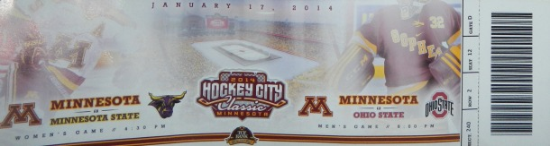 My ticket to the Hockey City Classic