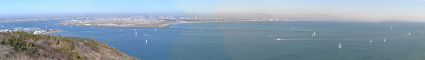 A panoramic view from Cabrillo