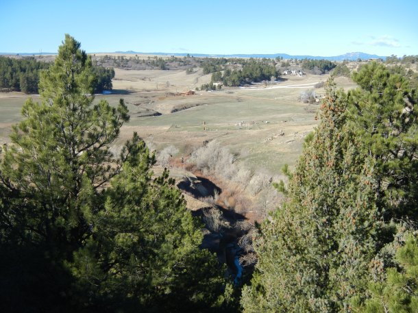 The view from the rim at Castlewood Canyon