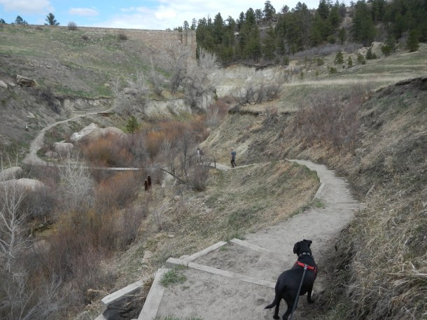 Hiking toward the old dam