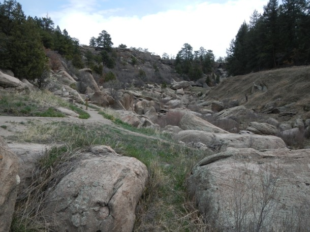 The rocky canyon on the south side of the park is a favorite for photos