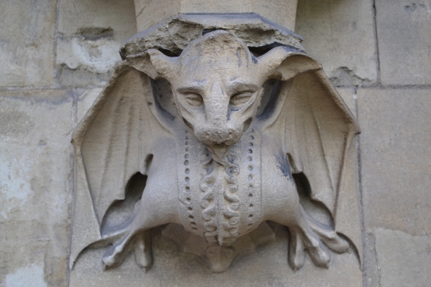 A gargoyle on the side of Westminster Abbey