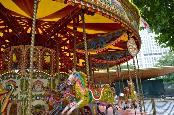 A merry-go-round near the London Eye