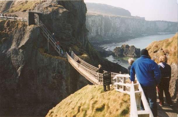 Northern Ireland's Carrick-a-Rede rope bridge