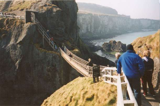 Northern Ireland's Carrick-a-Rede rope bridge