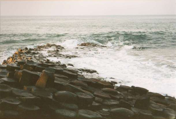 Looking out to sea from Northern Ireland's Giant's Causeway