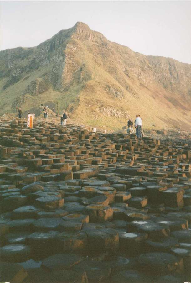 Looking back from the same spot is an iconic Giant's Causeway photo