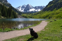 Anna at the Maroon Bells near Aspen