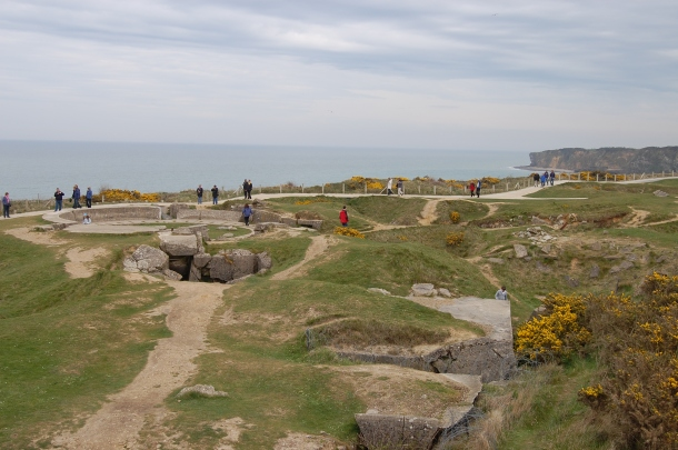 Nazi-fortified Pointe du Hoc between Utah and Omaha Beaches