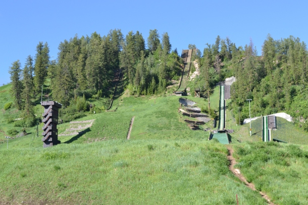 Hiking by the ski jumps