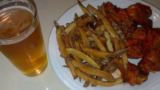 Sheraton wings and fries