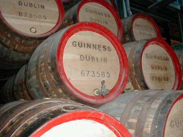 Barrels of joy on the Guinness tour