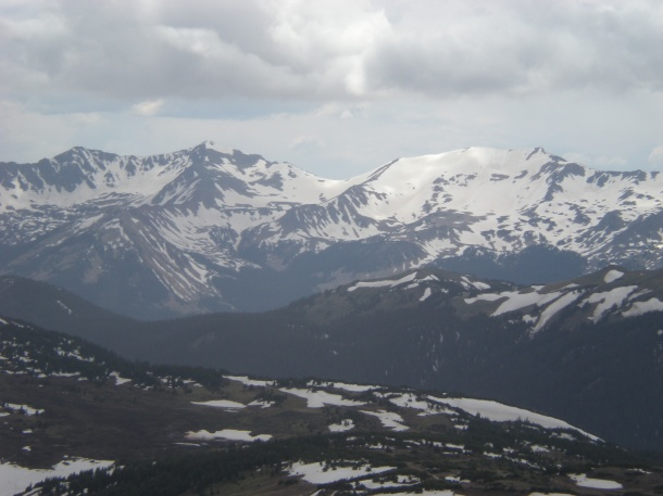 The view from the Alpine Visitor Center