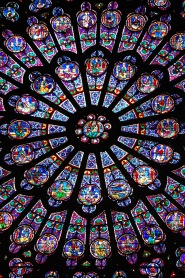 Notre Dame's famed north window