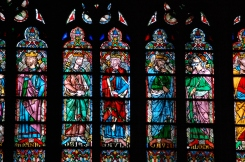 Some of the stained glass