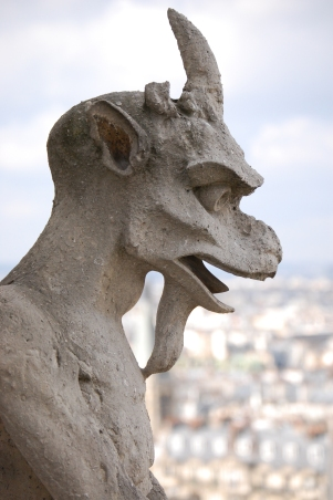 One of the many gargoyles